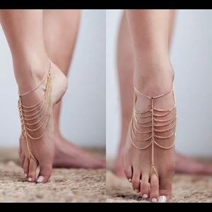 Jewelry - Anklets Barefoot Sandals Gold Tone Toe Chain